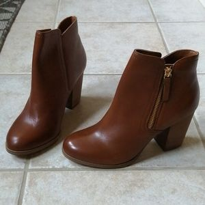 Aldo Emely Brown Leather Ankle Boots 37